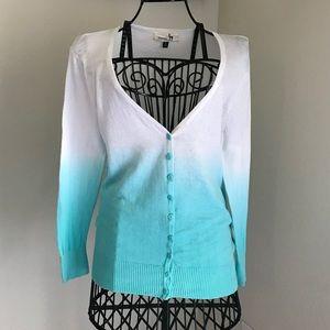 Darling Papaya Ombre Sweater Cardigan